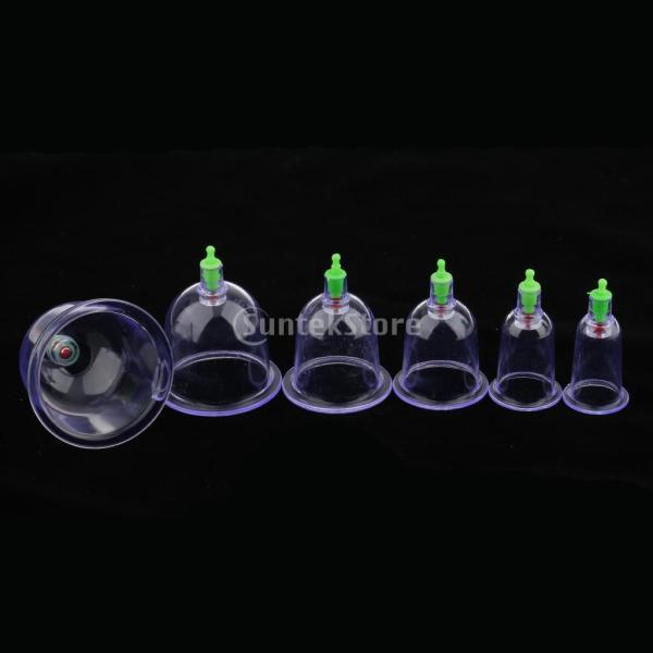 カッピング 6個 真空ポンプ 吸玉療法 マッサージ セラピーセット 漢方 |stk-shop|04