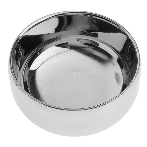 ステンレススチール メンズ シェービングブラシマグカップ ボウル 泡立ち 蓋付き|stk-shop|03