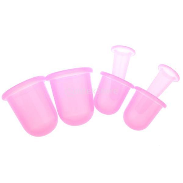 真空マッサージャー シリコン製 カッピング マッサージカップ S M L 3サイズセット 6個入り 全4色選べ - ピンク|stk-shop|02