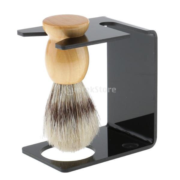 シェービングブラシセット ステンレス製スタンド ブラシ 石鹸 シェイプのマグカップ 髭剃り ひげ  メンズ 4点セット |stk-shop|04