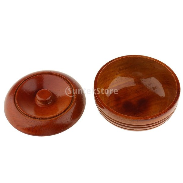 素晴らしい デザイン 古典的 木製 メンズ シェービングボウル マグカップ 石鹸 クリームカップ 蓋付き 理髪ツール |stk-shop|02