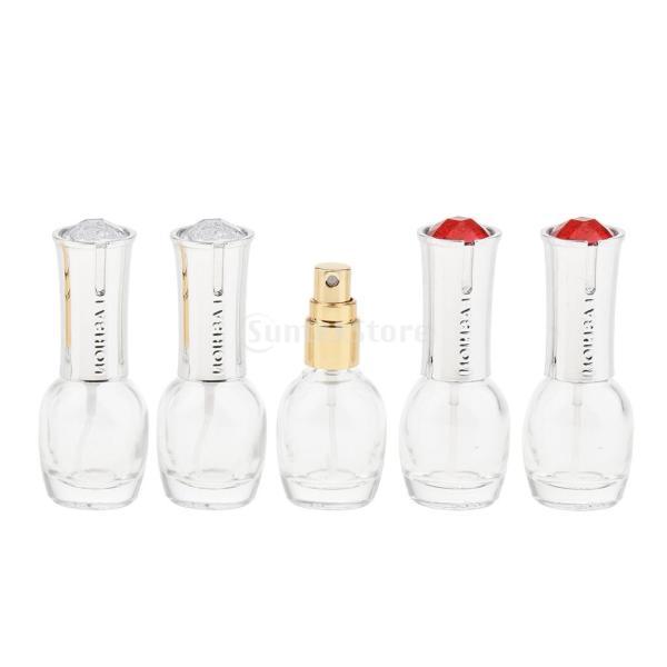 5個 スプレーボトル ガラス 空ボトル 10ml コスメ 化粧品 DIY 詰替え オイル 香水 アトマイザー メイクアップ stk-shop 05