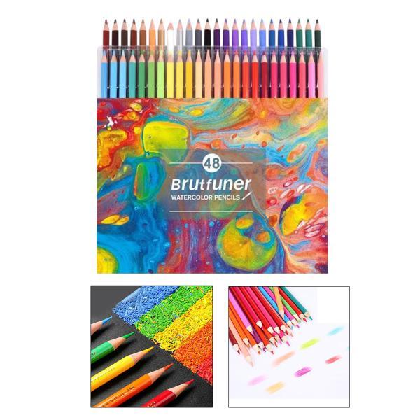 マルチカラーオイリーカラー鉛筆画ペイントスケッチ鉛筆48水溶性