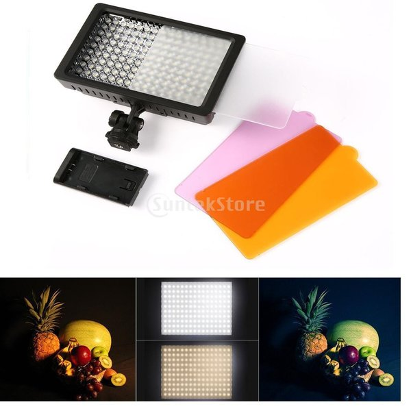 Dovewill  ユニバーサル 160LED ビデオライト ランプパネル 拡散光 写真撮影 DVビデオカメラ用