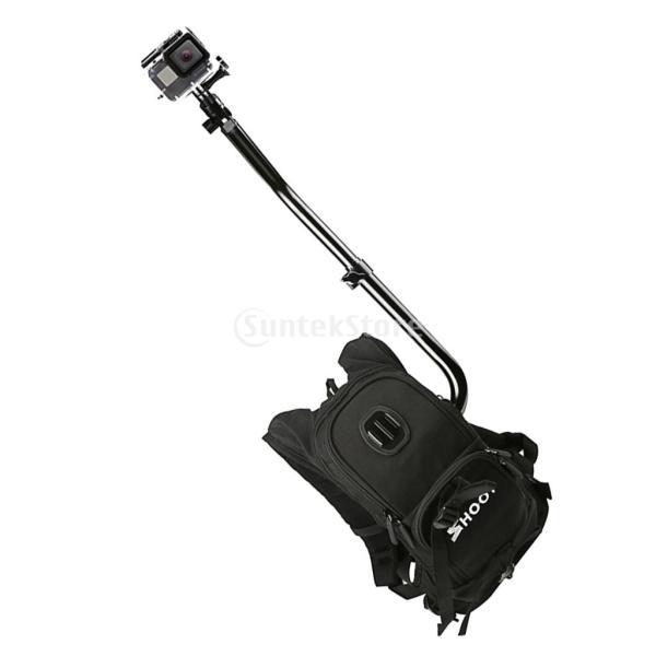 Lovoski  GoPro 5/4/3 + / 3 SJCamスポーツカメラ用 トラベル 自分撮り カメラバッグ ハンズフリー カメラリグ バックパック