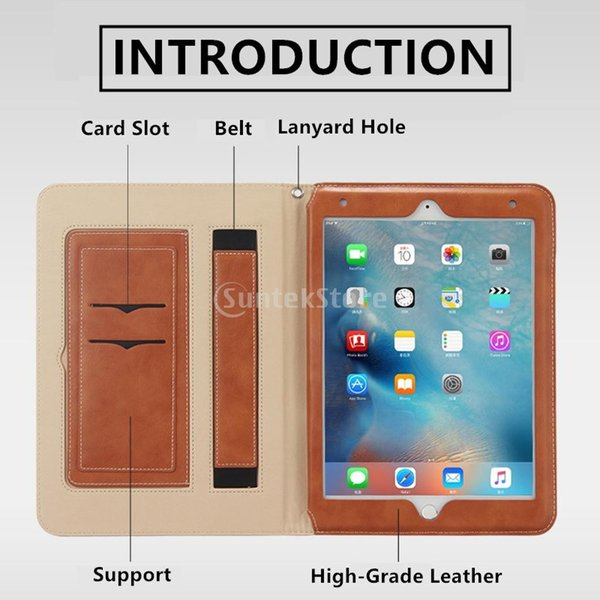Lovoski  iPad Air /Air2 9.7インチ用 自動スリープ 保護ケース スタンド HDフィルム スタイラスペン