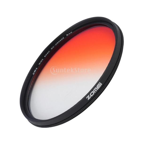 Lovoski  DSLRカメラ用 超薄型フレーム オレンジ カラーフィルター グラデーションフィルター 40.5-82mm選ぶ - 55mm