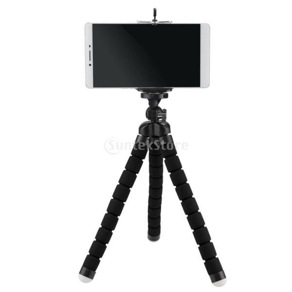 SONONIA タコフレキシブル 三脚  DSLRカメラ  DVスタンド 電話マウント w / 1/4インチネジ 全2色 カメラ三脚マウント - ブラック