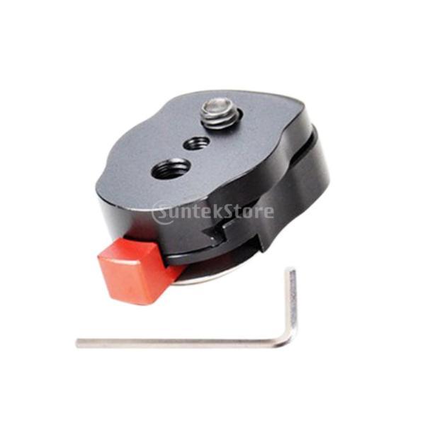 Dovewill 液晶モニタアームLEDライトカメラリグに対応 ミニ クイック リリース プレート