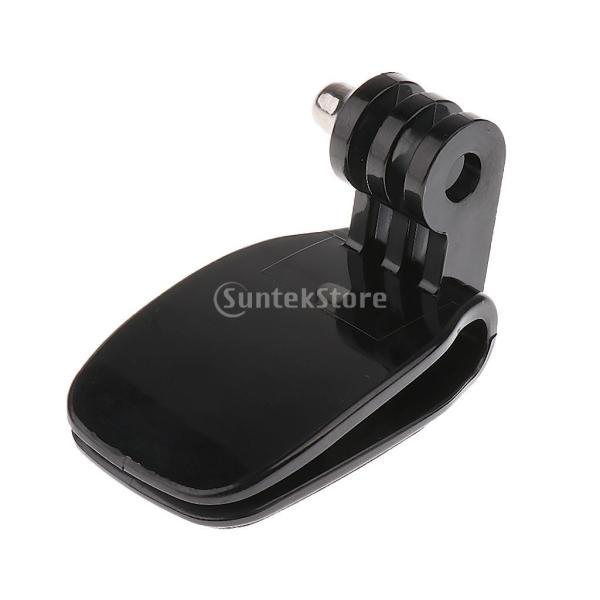 Baoblaze ハット マウント クイック クリップ ベースボール キャップ マウント GoPro Hero 5/4/3+/3/2/1 カメラに対応 ブラック 互換性