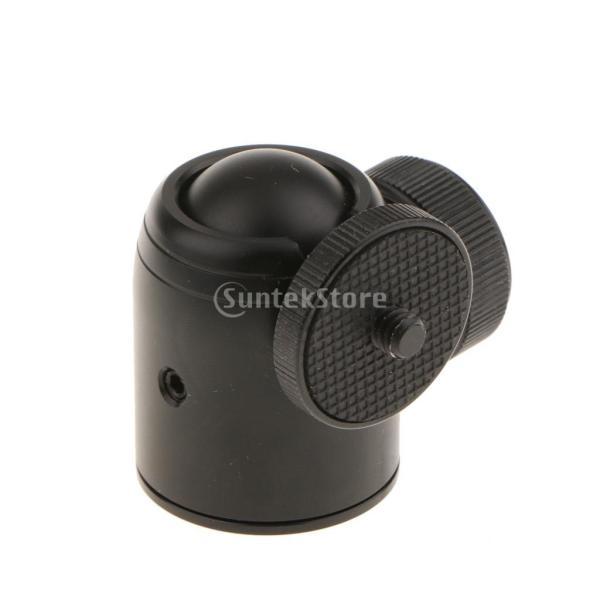 Perfk カメラ 三脚 モノポッド ミニ ボールヘッド 軽量 デスクトップ アダプター 交換部品 撮影補助ツール