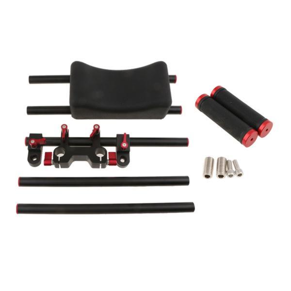 Dolity カメラ ショルダー サポートマウント スライダー ムービー ポータブル スタビライザー ステディ  交換性 便利性 高性能 安定性  全2色 - 赤