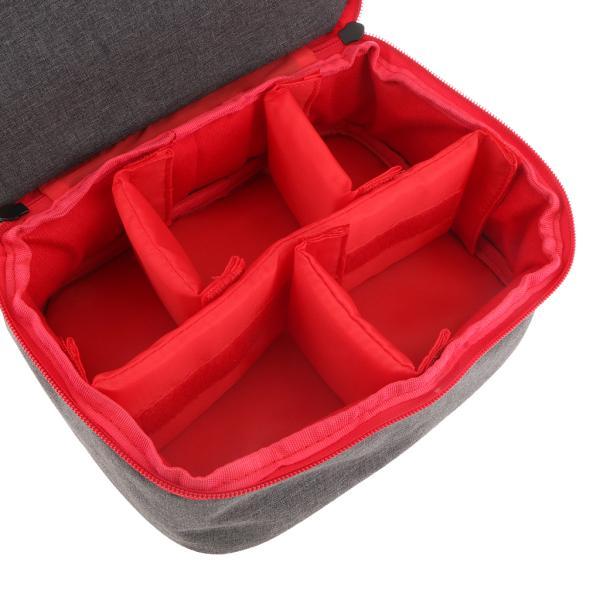 IPOTCH DSLR SLR カメラに対応 ポータブルカメラ Dslr SLRバッグ ケース ストラップ付き 携帯便利 使いやすい 全3色 - 赤