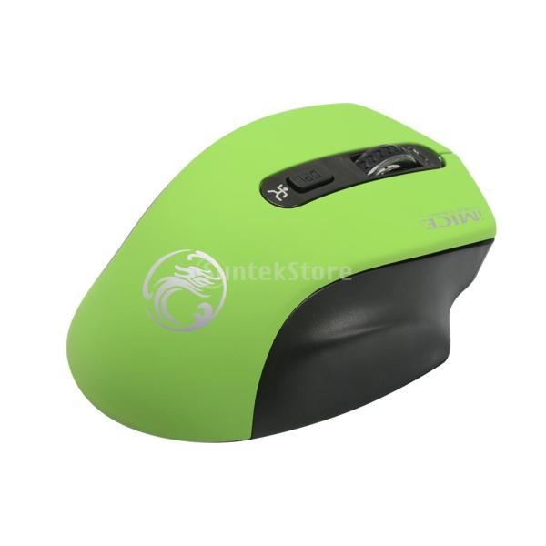 コンピュータ ラップトップに対応 E-1800 ワイヤレスマウス 調節可能 1600DPI  ゲームマウス 多機能 実用的 全4色 - 緑|stk-shop|05