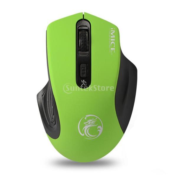 コンピュータ ラップトップに対応 E-1800 ワイヤレスマウス 調節可能 1600DPI  ゲームマウス 多機能 実用的 全4色 - 緑|stk-shop|08