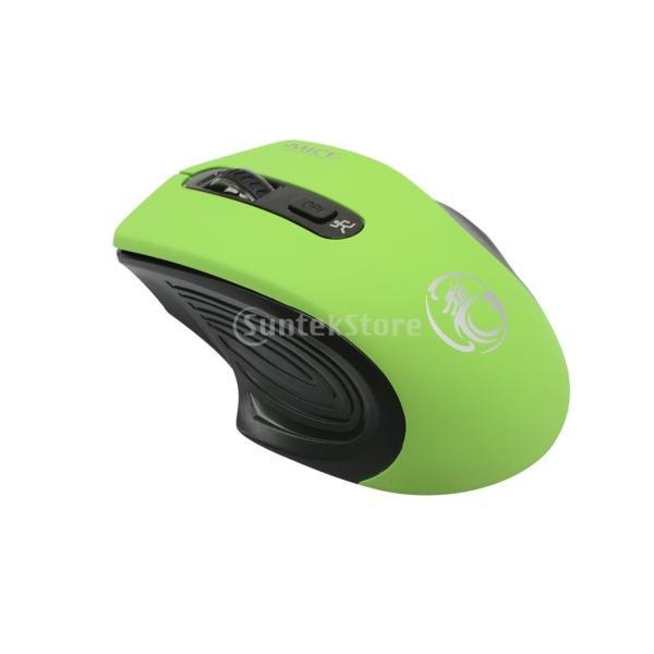 コンピュータ ラップトップに対応 E-1800 ワイヤレスマウス 調節可能 1600DPI  ゲームマウス 多機能 実用的 全4色 - 緑|stk-shop|09