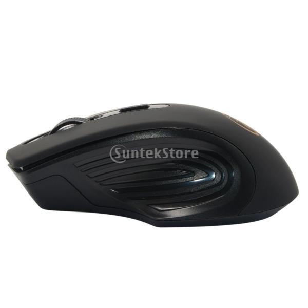 コンピュータ ラップトップに対応 E-1800 ワイヤレスマウス 調節可能 1600DPI  ゲームマウス 多機能 実用的 全4色 - ブラック|stk-shop|02