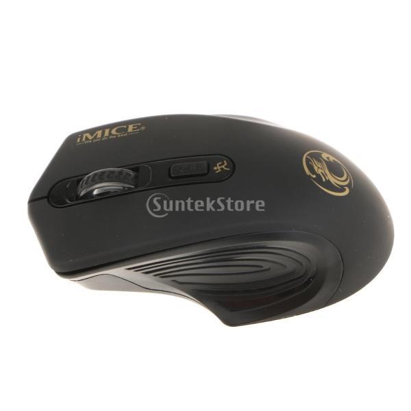 コンピュータ ラップトップに対応 E-1800 ワイヤレスマウス 調節可能 1600DPI  ゲームマウス 多機能 実用的 全4色 - ブラック|stk-shop|11