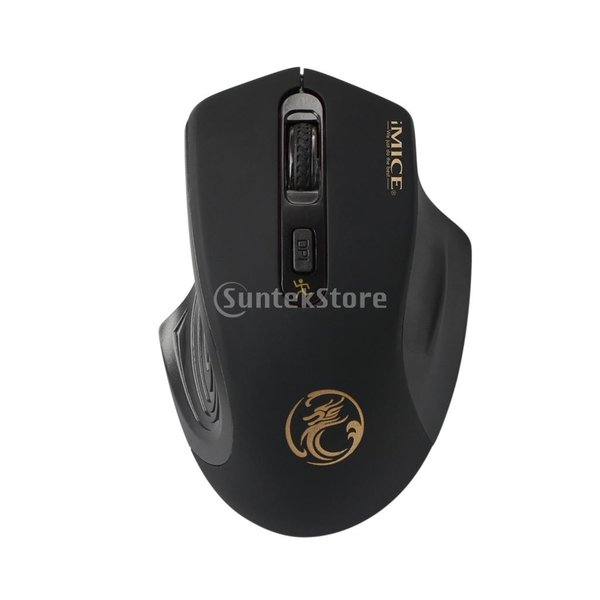 コンピュータ ラップトップに対応 E-1800 ワイヤレスマウス 調節可能 1600DPI  ゲームマウス 多機能 実用的 全4色 - ブラック|stk-shop|09