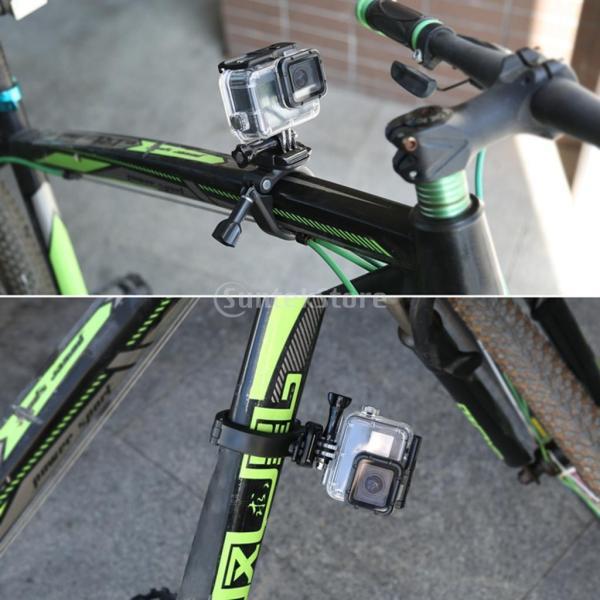 IPOTCH GoPro Hero に対応 360度 回転 自転車 ハンドルバー アダプター マウント 交換性 便利性 高性能 安定性