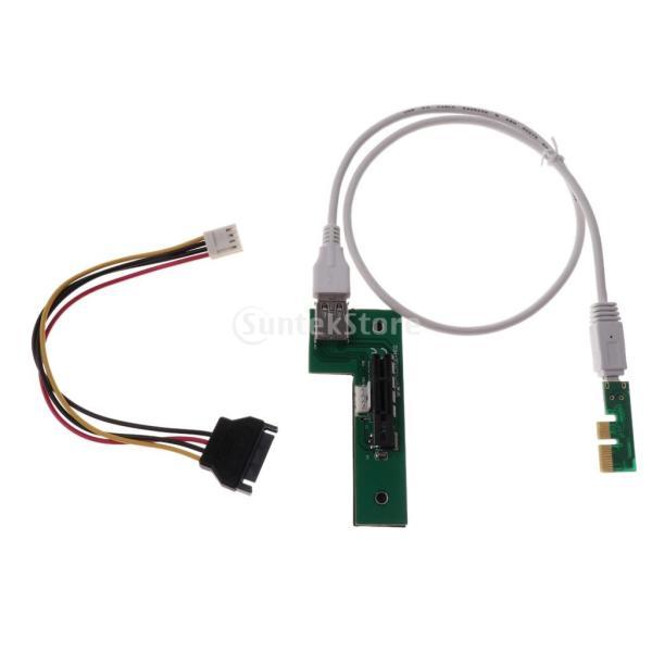 Fenteer 90度直角 USB 3.0 4ピン電源ケーブル ミニ  PCI-E PCI  エクスプレス 拡張 1xライザーカード 電源 USB  60cm 延長ケーブル