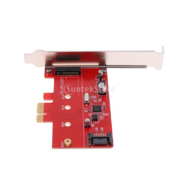 Baosity 高性能 安定性 PCI-E2.0 エクスプレス→NGFF M.2 B-キー SSD  SATAIII 3.0 コンボ ライザー カード アダプター