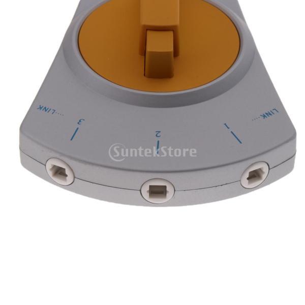 Fenteer 高品質 3ポート デジタル 光ファイバ トスリンク オーディオ マニュアルスイッチャ HDTV CDプレーヤー用