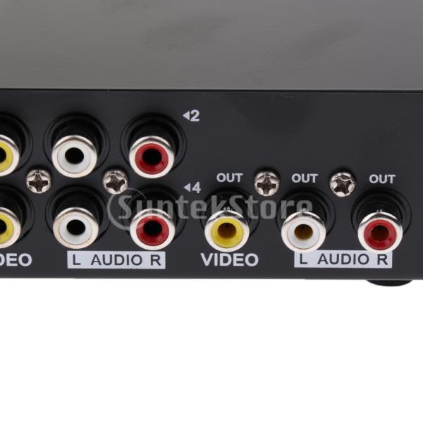 4ポート RCA ビデオ オーディオ AV スイッチ セレクタ スプリッタボックス 4入力1出力