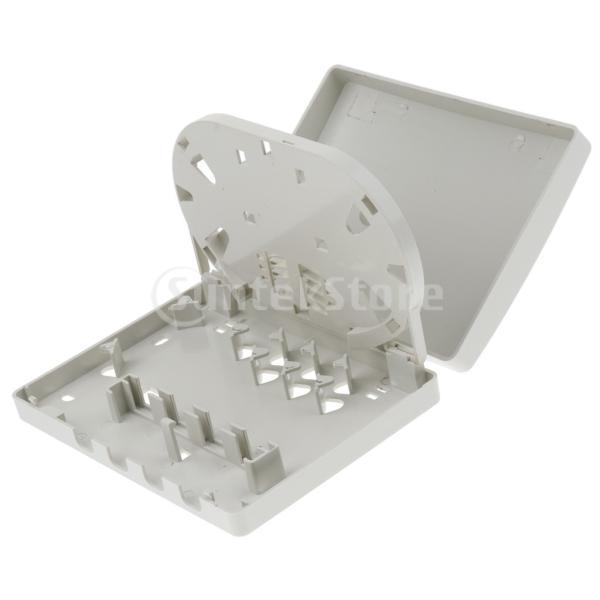 perfk 光ファイバー取付けパネル 4ポートマウントボックス ABS +プラスチック