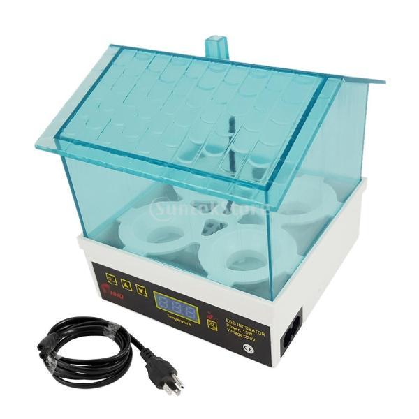 インキュベーター デジタル 孵化器 温度制御 恒温器 家禽 鳥 孵化用 空気循環 温度設定 実験室 透明 孵化プロセス 観察可能