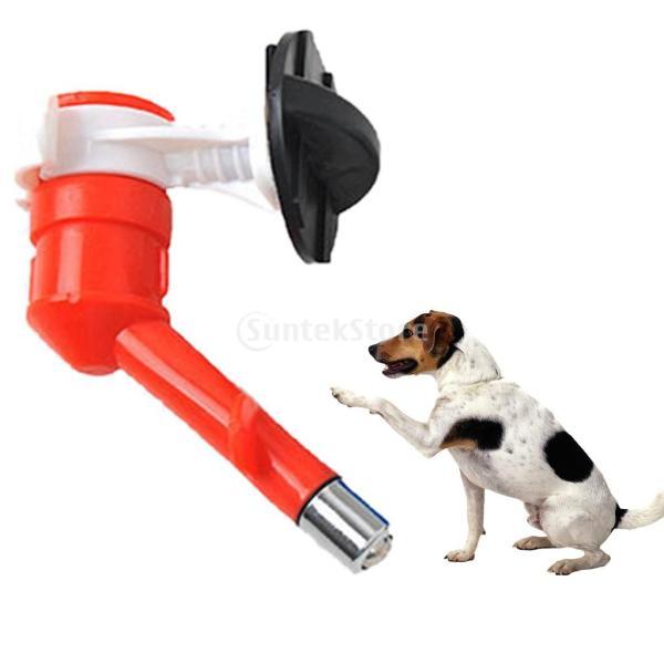 ペット 高品質 自動給水器 吊り可能 噴水ヘッド 耐久性 犬猫兼用 便利 実用 全3色 - 赤
