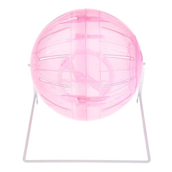 小型ペットハムスター鉄製スタンド付きボール活動おもちゃ運動ボールペットギフト贈り物