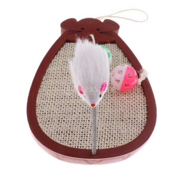 ペット用品 猫 遊び おもちゃ スクラッチ マウス おもちゃ 2鐘のボール 安全 耐久性