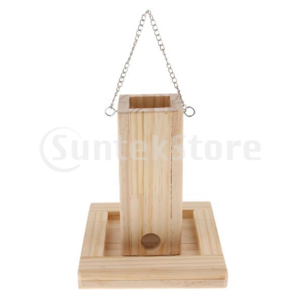 F Fityle オウム/鳥用食器 ぶら下げ 餌入れ ペットおもちゃ 木製 ケージ フィーダー