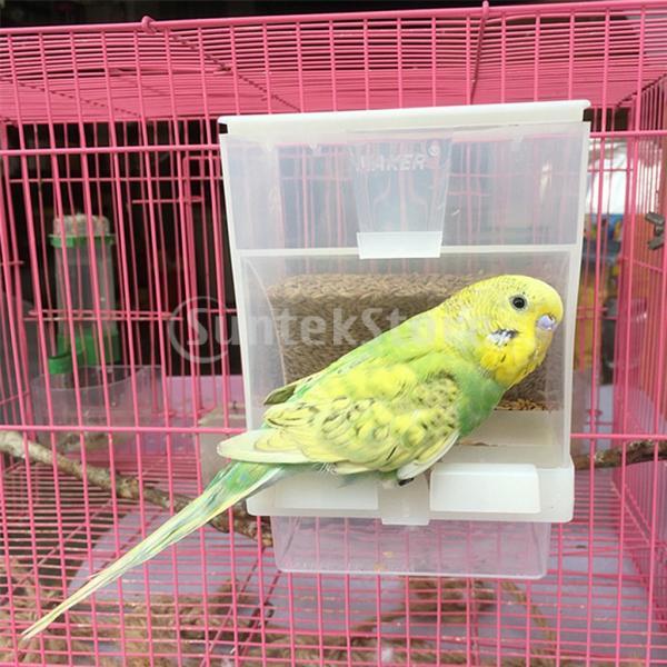 ペット用食品容器 オウム/鳥用フードボウル 餌箱 フィーダー 餌入れ プラスチック 食べやすい