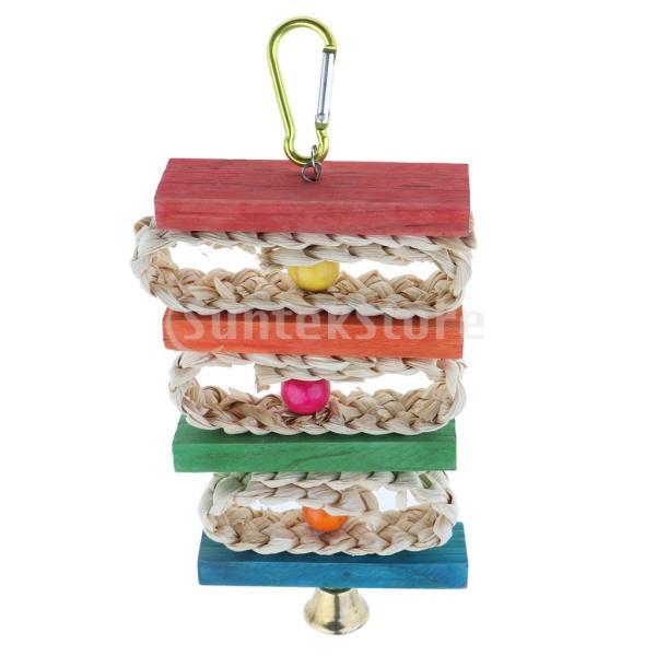 鳥のオウムケージぶら下げ玩具オウム登る鳥のオウムのための咀嚼のおもちゃ