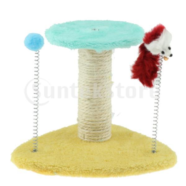 猫おもちゃ ペットおもちゃ 安全 ペット用 無毒 無臭 組み立て簡単 爪とぎ 24×23×20 cm