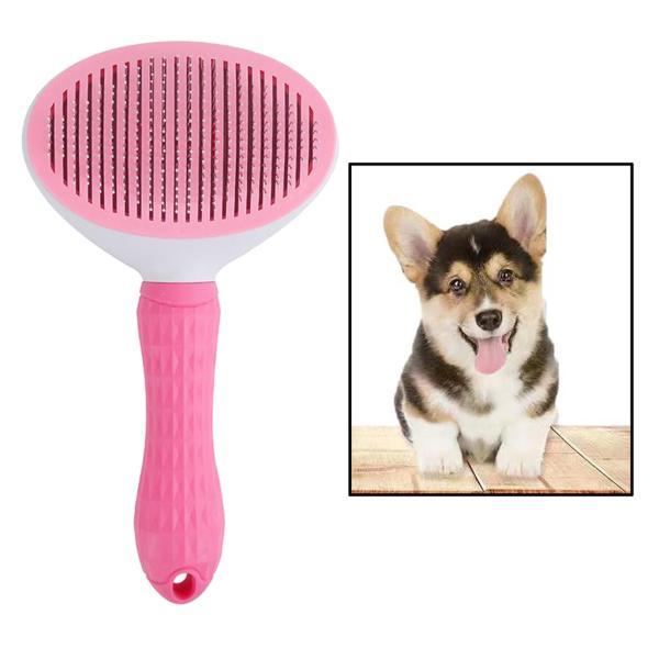 ピンク セルフクリーニングヘアブラシ 猫セルフクリーニングヘアブラシスリッカーを削除します