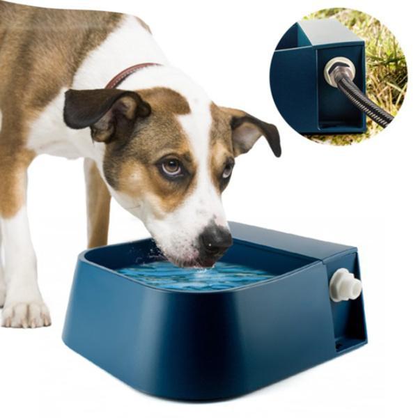 自動犬用給水器、猫用自動犬用水入れ犬鳥山羊屋外小動物ABSプラスチックブルー2L