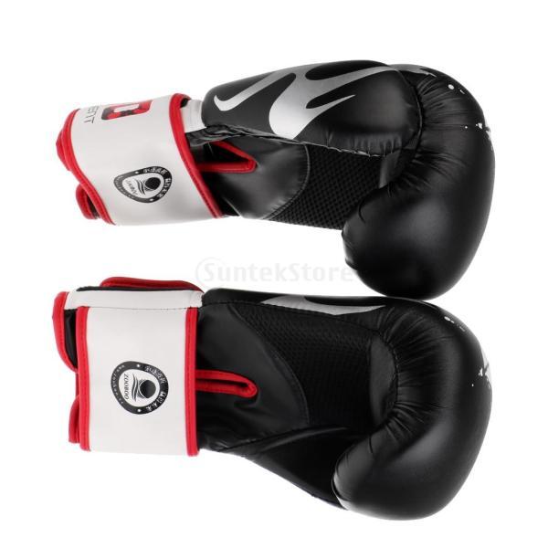 1ペア PU  ボクシング グローブ  スパーリング   ムエタイ   キックボクシング  MMA  パンチ バッグ 空手 ミット 手袋|stk-shop|03