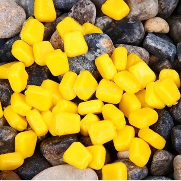 Fenteer 甘いコーンの味 浮遊餌  イエロー  匂いのポップアップ ソフト   粗い  鯉釣りルアー  ツール  約100個セット