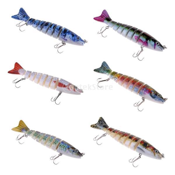 ルアー 本物みたい 人工餌 マルチジョイント 釣り用 フック付き 全6色 - 1#|stk-shop|06