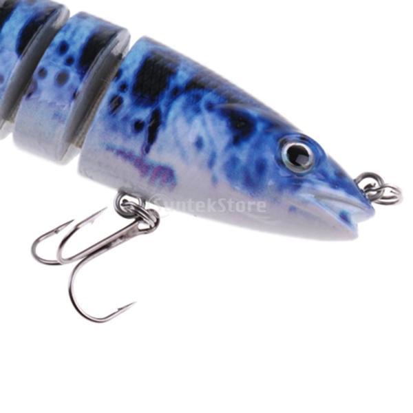 ルアー 本物みたい 人工餌 マルチジョイント 釣り用 フック付き 全6色 - 1#|stk-shop|07