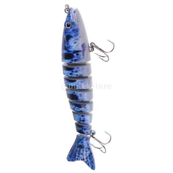 ルアー 本物みたい 人工餌 マルチジョイント 釣り用 フック付き 全6色 - 1#|stk-shop|08