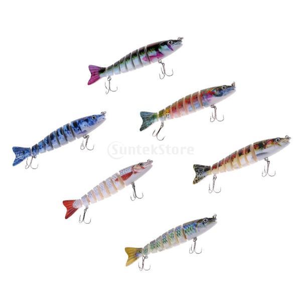 ルアー 本物みたい 人工餌 マルチジョイント 釣り用 フック付き 全6色 - 1#|stk-shop|10