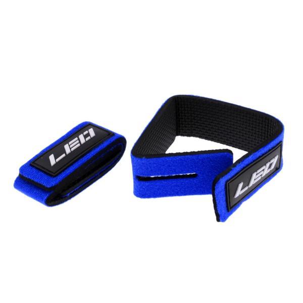Flameer 2点入り 釣竿タイ ロッドストラップ 釣竿保護 バンド ベルト ラップ 調整可能 弾性 固定用 使いやすい 全3色 - 青