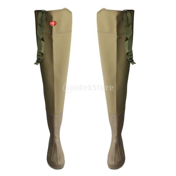 3層 PVC シューズ フィッシングブーツ 作業靴 ブーツ 釣り 農業 防水 滑り止め 耐久性 泥沼 池 4色6サイズ   - 褐色, 43 stk-shop