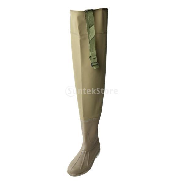 3層 PVC シューズ フィッシングブーツ 作業靴 ブーツ 釣り 農業 防水 滑り止め 耐久性 泥沼 池 4色6サイズ   - 褐色, 43 stk-shop 02