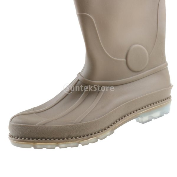3層 PVC シューズ フィッシングブーツ 作業靴 ブーツ 釣り 農業 防水 滑り止め 耐久性 泥沼 池 4色6サイズ   - 褐色, 43 stk-shop 11