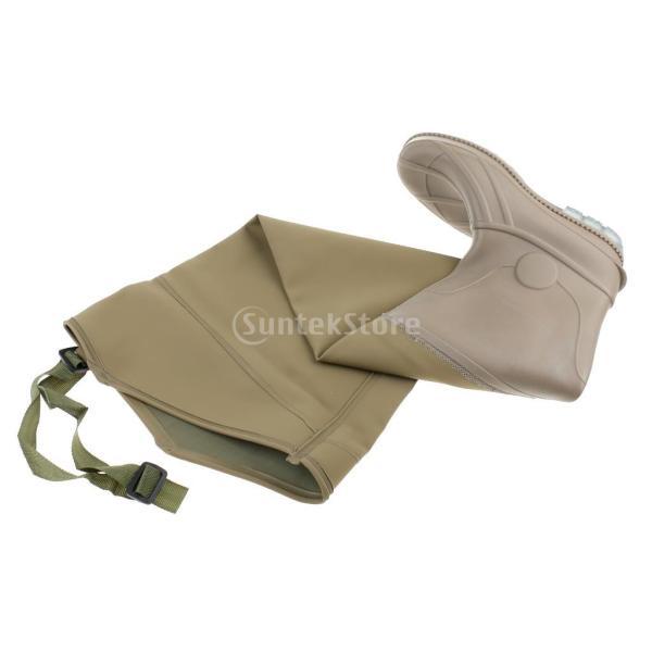3層 PVC シューズ フィッシングブーツ 作業靴 ブーツ 釣り 農業 防水 滑り止め 耐久性 泥沼 池 4色6サイズ   - 褐色, 43 stk-shop 12